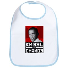 Obama Kneel Before Change Bib