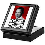 Obama Kneel Before Change Keepsake Box