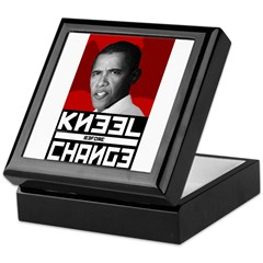 Obama Kneel Before Change Keepsake Box