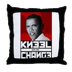 Obama Kneel Before Change Throw Pillow
