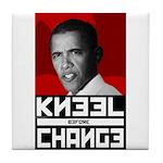 Obama Kneel Before Change Tile Coaster