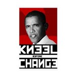 Obama Kneel Before Change Rectangle Sticker 10 pk