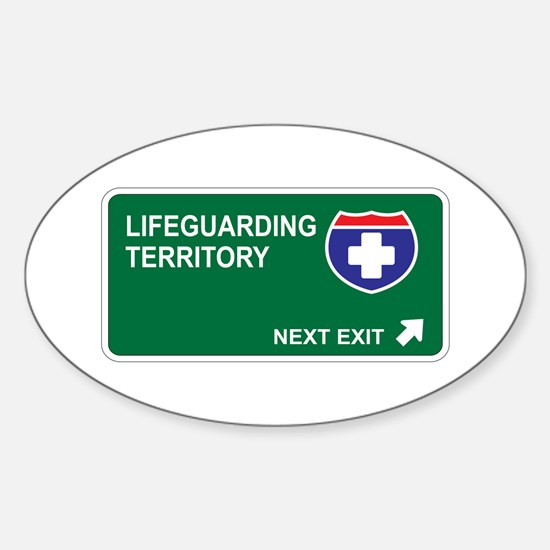 Lifeguarding Territory Oval Bumper Stickers