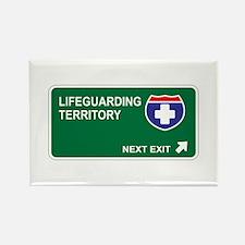 Lifeguarding Territory Rectangle Magnet