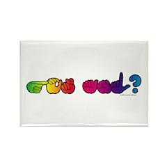 Got ASL? Rainbow Rectangle Magnet (10 pack)