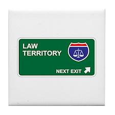 Law Territory Tile Coaster