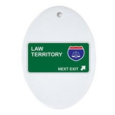 Law Territory Oval Ornament