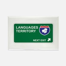 Languages Territory Rectangle Magnet