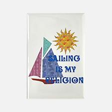 Sailing Religion Rectangle Magnet (100 pack)