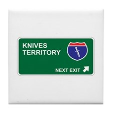 Knives Territory Tile Coaster