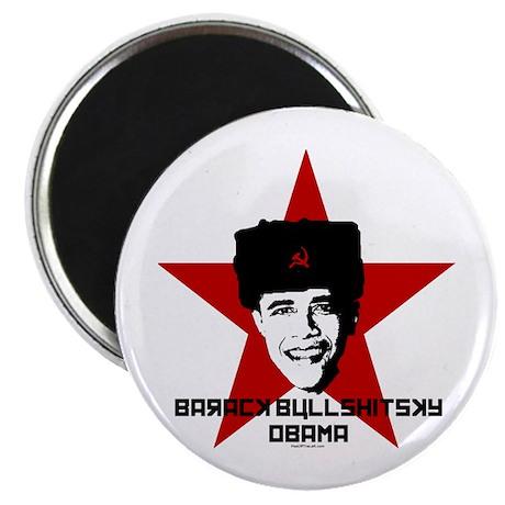 "Barack Bullshitsky Obama 2.25"" Magnet (100 pa"