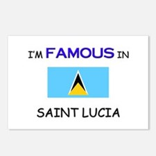 I'd Famous In SAINT LUCIA Postcards (Package of 8)