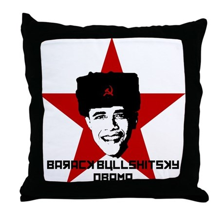 Barack Bullshitsky Obama Throw Pillow