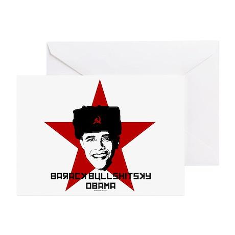 Barack Bullshitsky Obama Greeting Cards (Pk of 10)