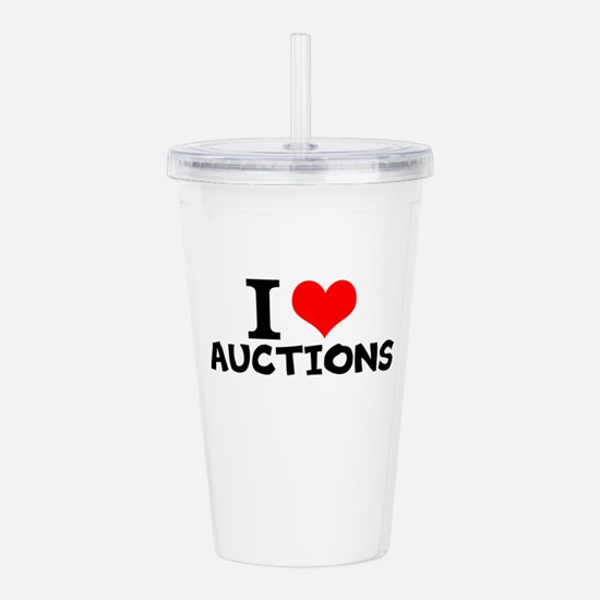 I Love Auctions Acrylic Double-wall Tumbler