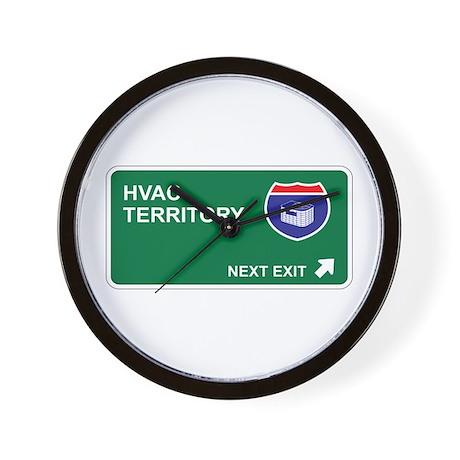 HVAC Territory Wall Clock