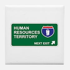 Human, Resources Territory Tile Coaster