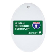 Human, Resources Territory Oval Ornament
