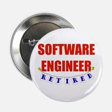"""Retired Software Engineer 2.25"""" Button"""