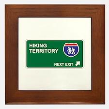Hiking Territory Framed Tile