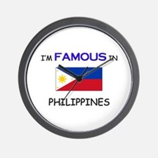 I'd Famous In PHILIPPINES Wall Clock