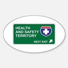 Health, and Safety Territory Oval Decal