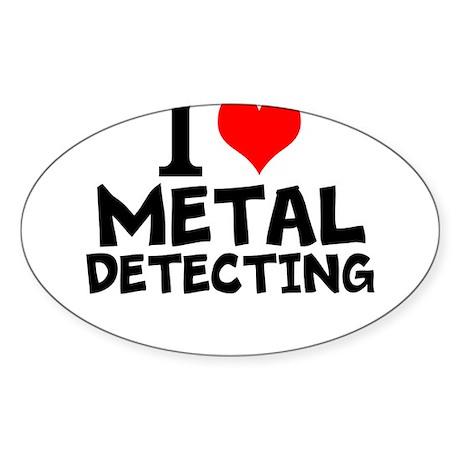I Love Metal Detecting Sticker