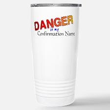 Danger Confirmation Name Stainless Steel Travel Mu