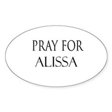ALISSA Oval Decal
