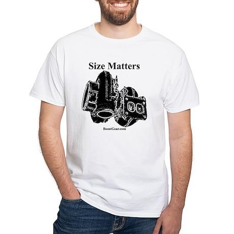 Size Matters - White T-Shirt