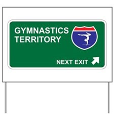 Gymnastics Territory Yard Sign