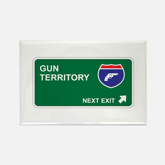 Gun Territory Rectangle Magnet