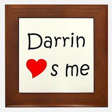 Funny Darrin Framed Tile