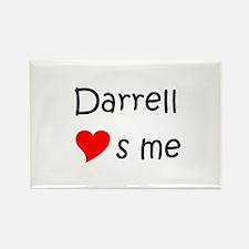 Unique Darrell Rectangle Magnet
