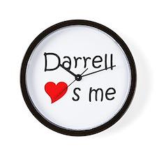 Darrell name Wall Clock