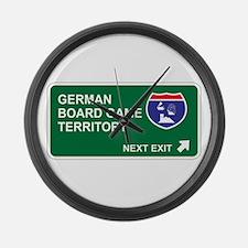 German, Board Game Territory Large Wall Clock