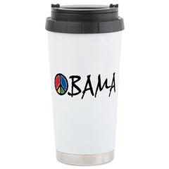Obama Peace Stainless Steel Travel Mug