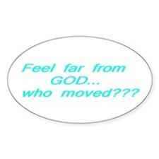 scripture, sayings Oval Decal