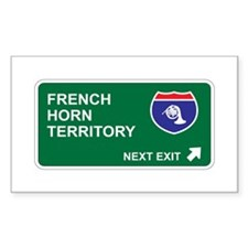 French, Horn Territory Rectangle Decal
