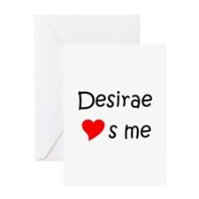 Desirae Greeting Card