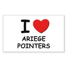 I love ARIEGE POINTERS Rectangle Decal