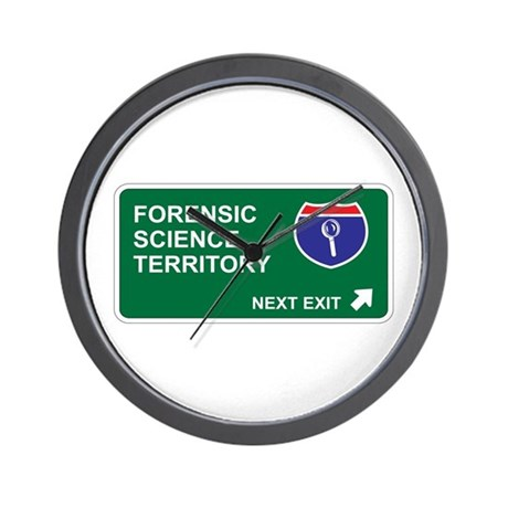 Forensic, Science Territory Wall Clock