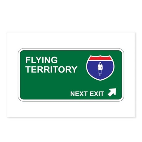Flying Territory Postcards (Package of 8)