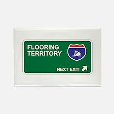 Flooring Territory Rectangle Magnet