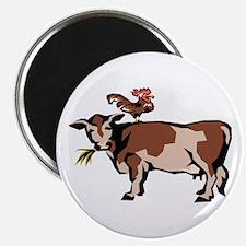 Brown Chicken Brown Cow 3 Magnet