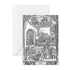 Mercury Woodcut Greeting Cards (Pk of 20)