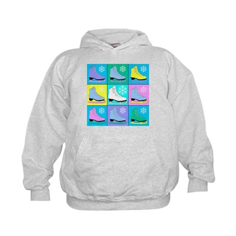 Frosty Colors Ice Skates Kids Hoodie