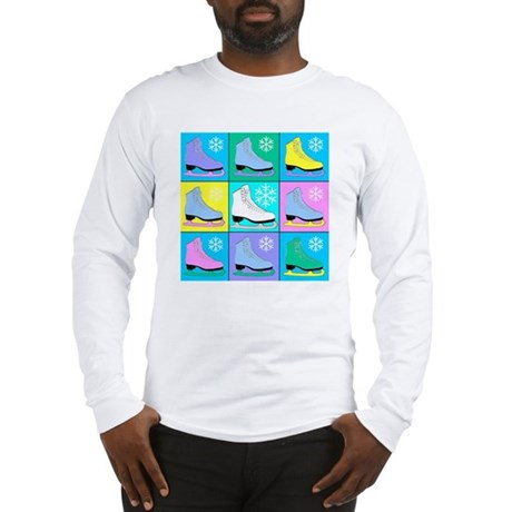 Frosty Colors Ice Skates Long Sleeve T-Shirt