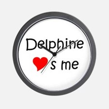 Cool Delphine Wall Clock