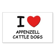 I love APPENZELL CATTLE DOGS Rectangle Decal